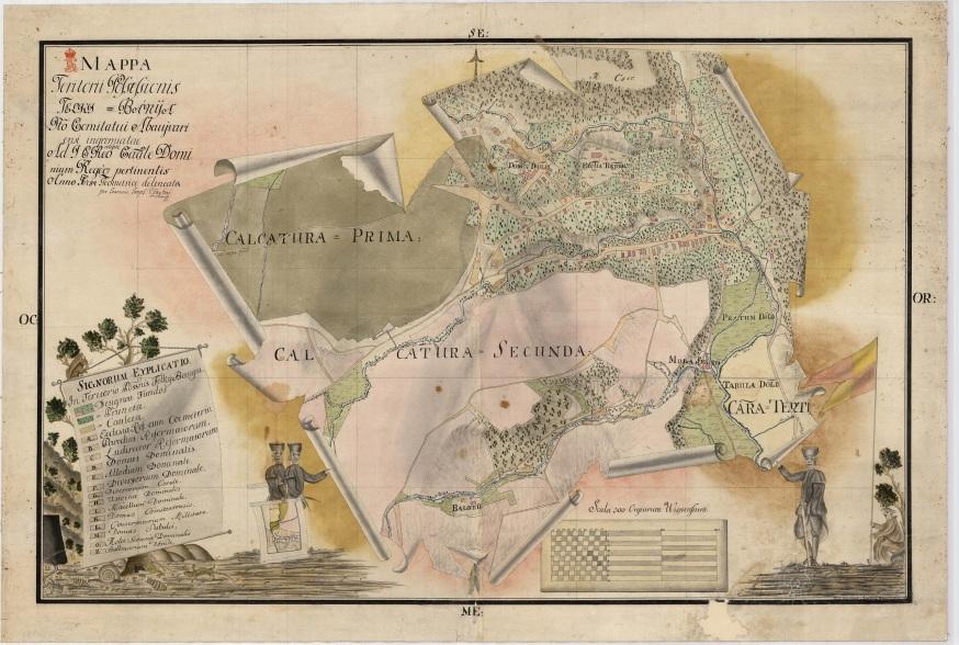 Telkibánya térképe. MNL OL – S 11 – Nr. 155/2.