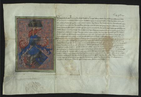 Zsigmond király nemességet adományoz Eresztvényi Ferenc és családja részére. MNL OL DL 92447.