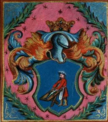 Bethlen Gábor nemességet és címert adományoz Szakácz János részére, részlet. MNL OL R 64 – 1– 208