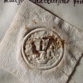 """Tarcali szőlőre vonatkozó, 1601-es gyöngybetűkkel írt, szőlőbirtok """"adásvételi szerződés"""" a Melczer-család levéltárában. MNL OL P 1826 – 90 – 180.p. Fotó: Czikkelyné Nagy Erika"""