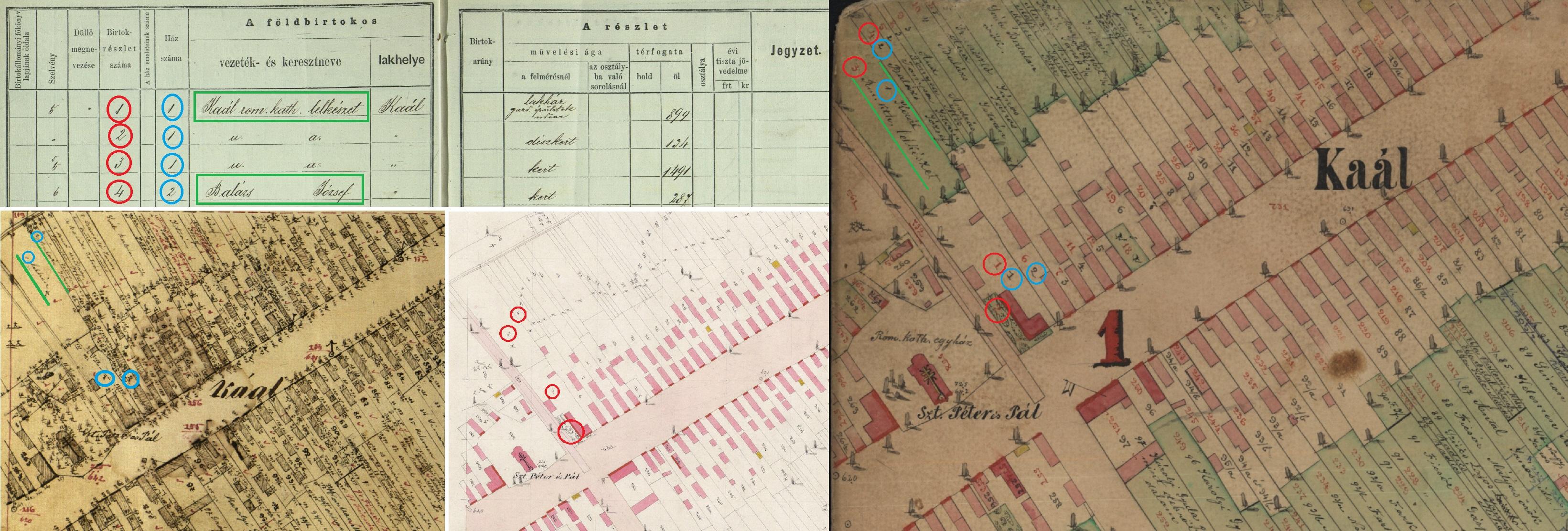 kataszteri térkép Kataszteri térképek és iratok (1850–1916) – aktakaland