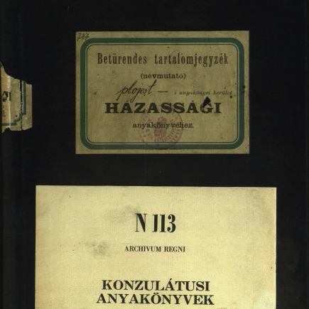 MNL OL N 113 – 61.k. Borító: A plojesti házassági anyakönyvek betűrendes tartalomjegyzéke