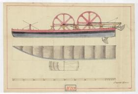 Bori Antal: Kotróhajó rajza, 1800 körül. MNL OL T 3 – No. 253.