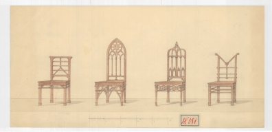 Székek a Festetics család levéltárából, 19. század. MNL OL T 3 – No. 581.