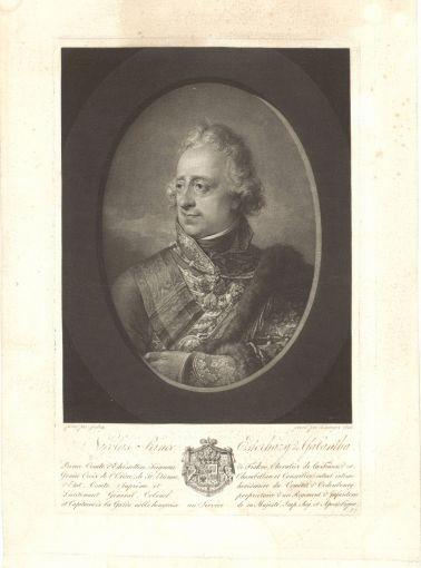Jean-Baptiste Isabey – Vincenz Georg Kininger: Esterházy Miklós (1765–1833), 1814. MNL OL T 2 – No. 1566.