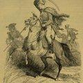 A magyar származású külföldi huszárok közül bemutatjuk a Ráttky magyar ezredes által alakított franczia ezred egy vitézét… (Forrás: Vasárnapi Ujság, 1900. február25.)