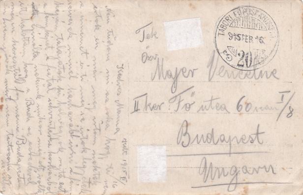 Majer istván levelezőlapja édesanyjának