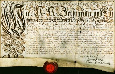 A kassai pékek felveszik tagjaik közé a modori származású Richter Pál pékmestert, 1791. december 12. Jelzet: MNL OL R 27 – No. 184.