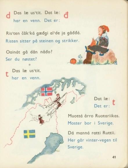 Számi nyelvkönyv - eredeti őrzési helye Norvég Nemzeti Levéltár